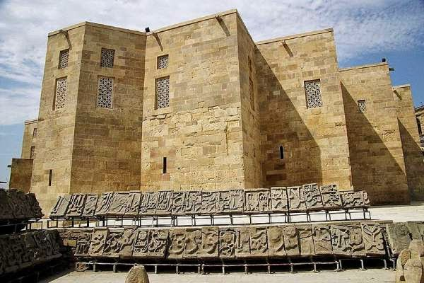 Azerbaijan tourism - view of the main building in the palace