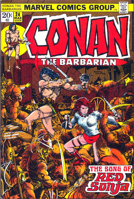 Conan the Barbarian v1 #24 marvel comic book cover art by Barry Windsor Smith