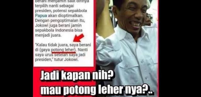"""Pengamat: Takut ditagih janji potong leher, Jokowi sengaja """"matikan"""" sepak bola RI"""