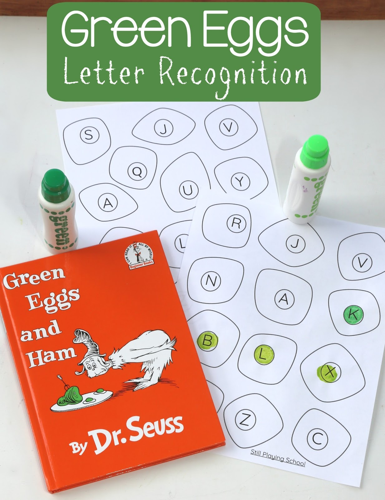 green eggs and ham letter recognition still playing