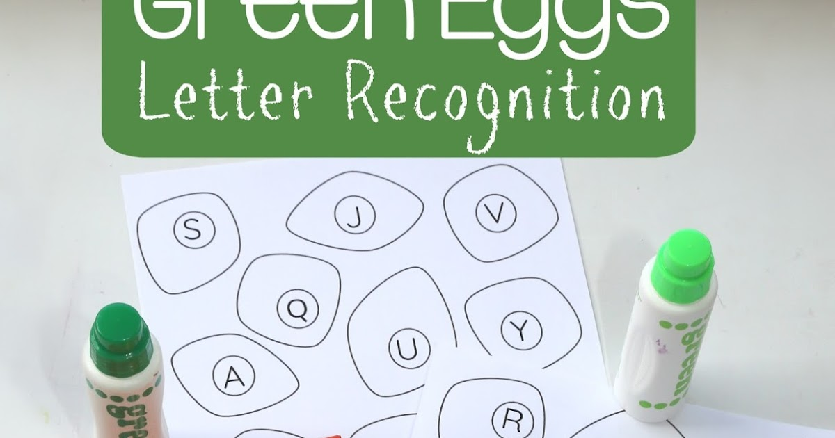 Green Eggs And Ham Letter Recognition Still Playing School