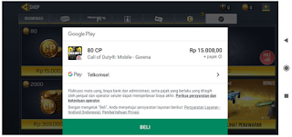 Top up cod mobile || Begini cara  top up call of duty mobile garena