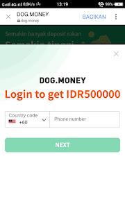 aplikasi dog money penghasil uang