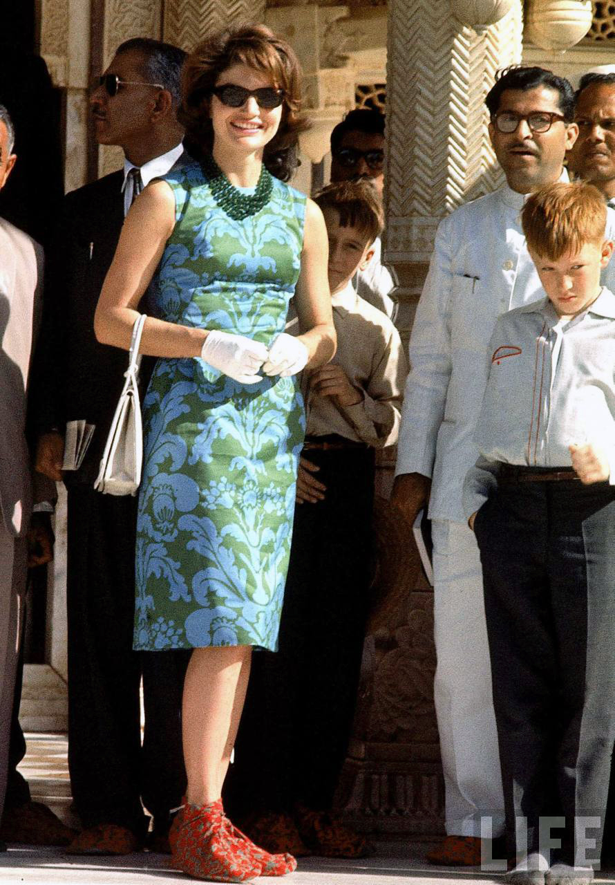 Jackie Kennedy Visits India 1962 Vintage Everyday