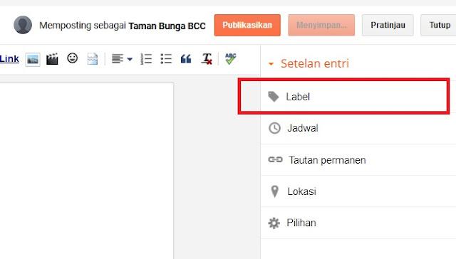 Ini Nih Fungsi Label Untuk Tulisan di Blog