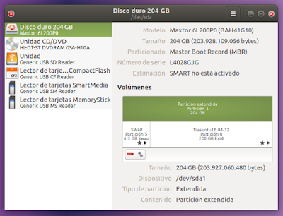 Disco duro 204 GB