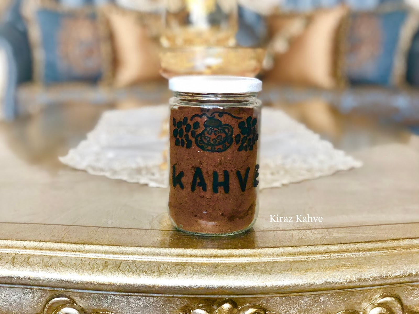 KAVANOZ BOYAMA kahvelik yapımı