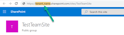How to find my tenant name from SharePoint Site URL