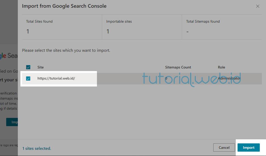 Cara Submit Blog Ke Bing 3 Pilih Import