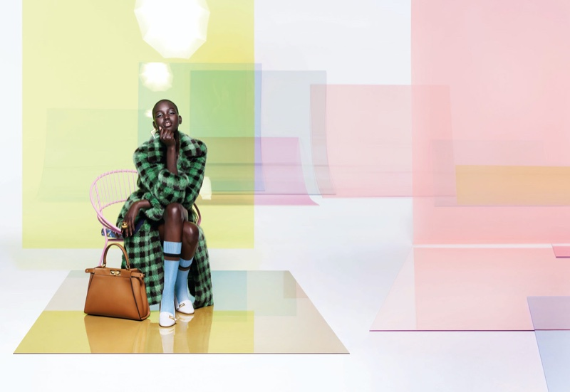 Adut Akech appears in Fendi spring-summer 2020 campaign