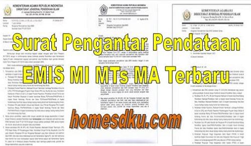 Surat Pengantar Pendataan EMIS MI MTs MA Terbaru