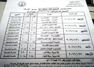 جداول امتحانات الدقهلية ترم أول 2016 تفصيلية المنهاج المصري 11.jpg