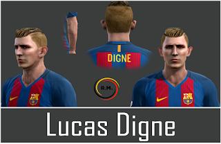 Face Lucas Digne - Barcelona Pes 2013