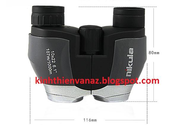 Kính Thiên Văn AZ: Ống nhòm 2 mắt Nikula 10x22 6.1 độ nhỏ gọn cầm tay