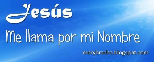 Con su voz, Jesús me llama por mi nombre. Vivir con Jesucristo. Jesús me ama y me conoce. El Señor me da vida abundante. Amo la voz de Jesús. Mis ovejas oyen mi voz y me siguen. Juan 10. Postal cristiana. Poema cristiano. Mensaje de aliento para amigo