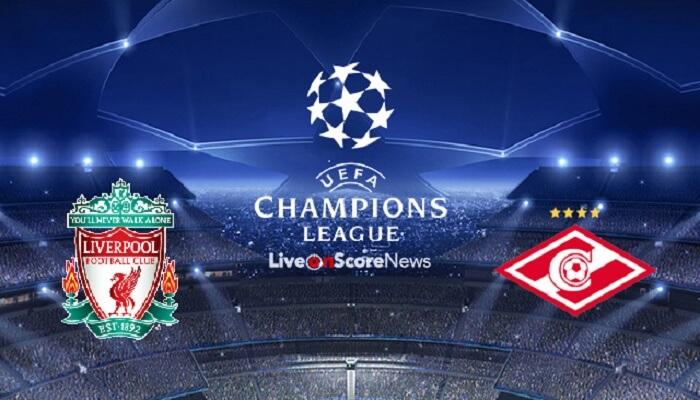 Ver Liverpool vs Spartak Moscow En Vivo