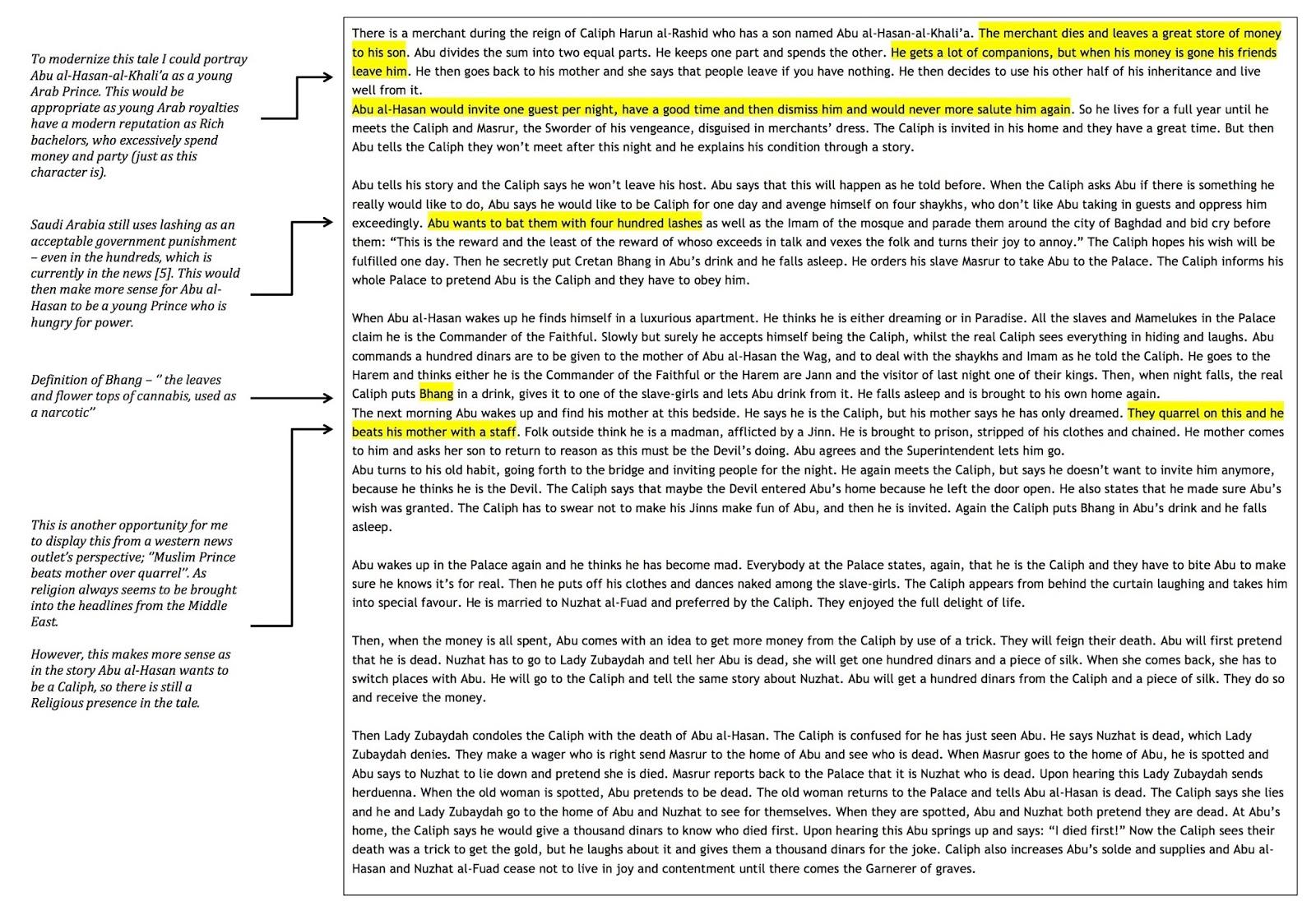 Think, the story of king shahryar and shahrazad summary