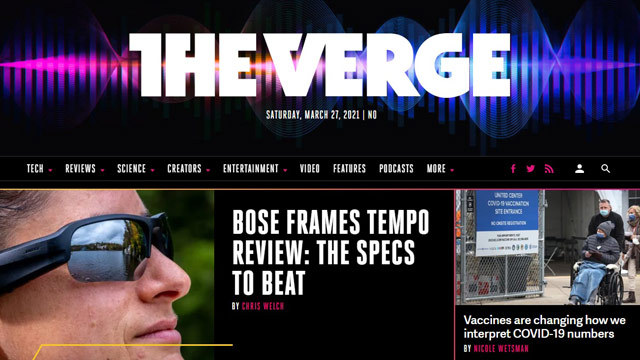 The Verge - Blog Teknologi Terpopuler