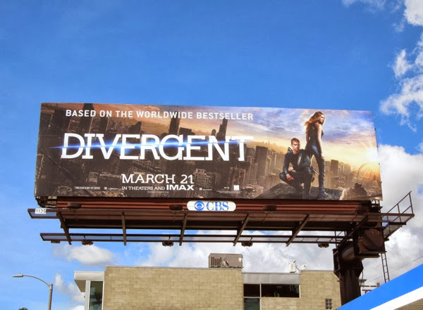 Divergent movie billboard