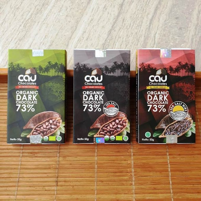 Cau Organic Dark Chocolate 73% - Camilan Cokelat Hitam Organik dengan Pemanis Gula Kelapa