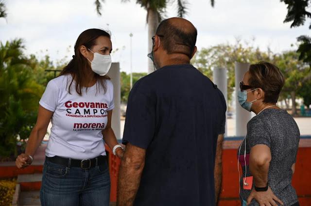 Candidata de Morena se abre paso en el Campestre