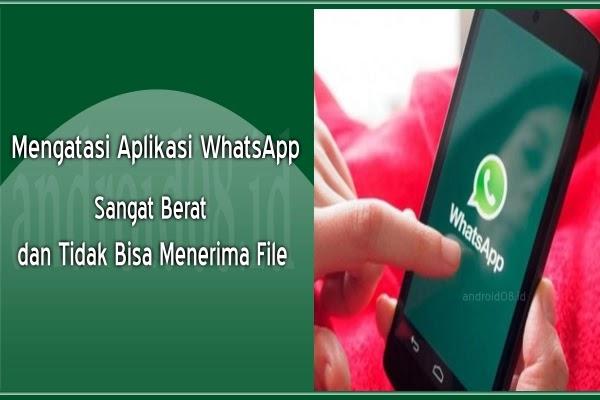 Mengatasi Aplikasi WhatsApp Terasa Berat dan Tidak Bisa Menerima File
