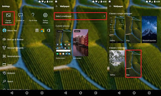 Microsoft Launcher Lock screen with Bing images option