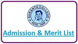 Sukanta College Merit List