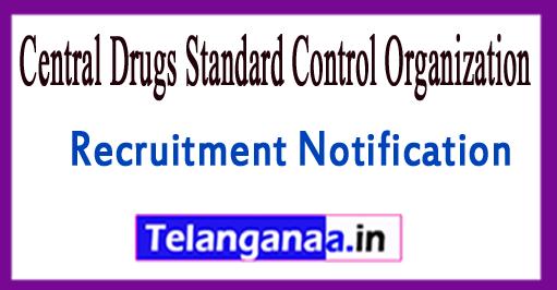 Central Drugs Standard Control OrganizationCDSCO Recruitment Notification