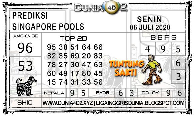 Prediksi Togel SINGAPORE DUNIA4D2 06 JULI 2020