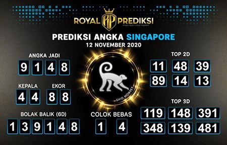 Royal Prediksi SGP Kamis 12 November 2020