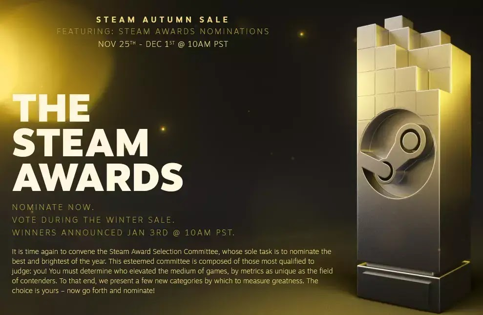 The Steam Award 2020 Autumn Sale