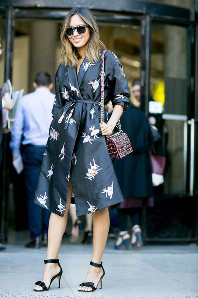 vestido invitada boda kimono dress look style