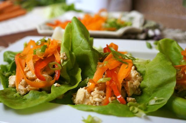 Vietnamese Tofu Lettuce Cups