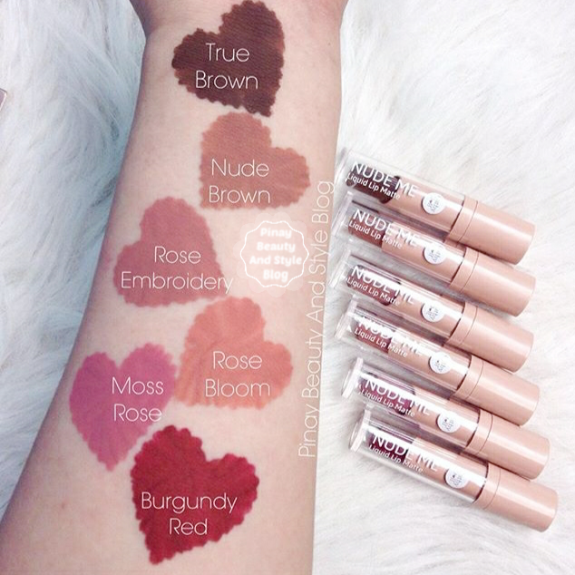 Cathy Doll Nude Me Liquid Lipstick Swatches Review pinaybeautyandstyle  yeyandie