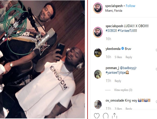 Photo: Davido and Ludacris Working Together in Studio