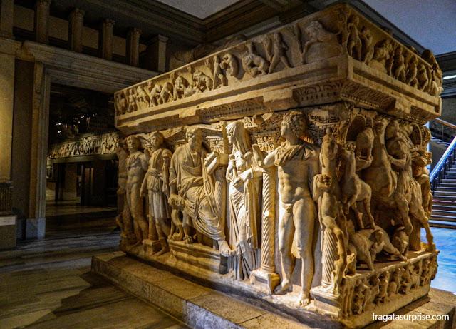 Sarcófago greco-romano no Museu Arqueológico de Istambul