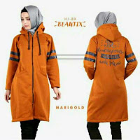 HijaBenka Sweater Hoodie Zipper HiJacket Marigold ANDHIMIND