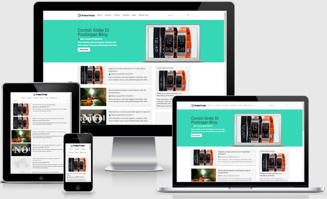 Kompi Design With Google AMP Responsive Blogger Templates