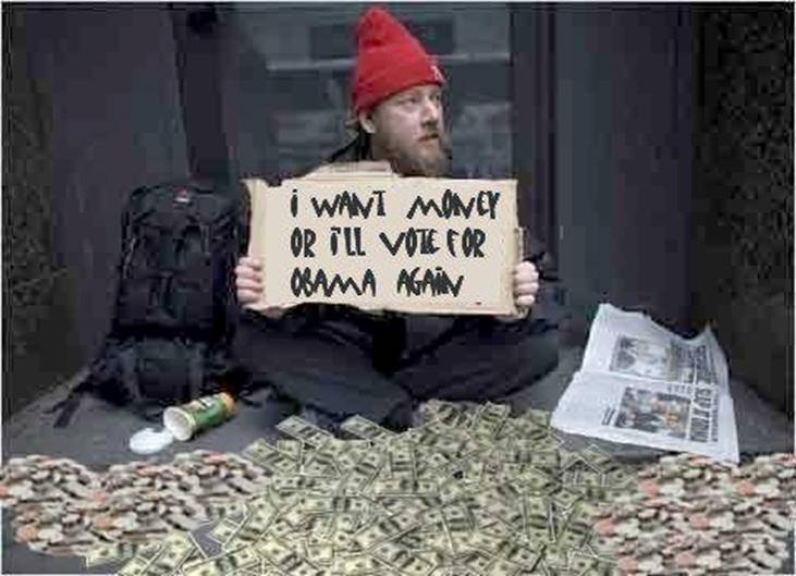 give me money or I'll vote for Obama again