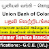 Vacancies in Union Bank (Qualifications:- G.C.E. O/L or A/L)