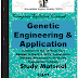 Genetic Engineering and Application PDF Study Materials cum Notes, E-Books Free Download