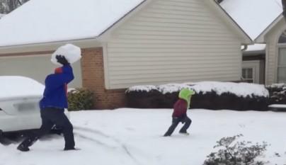 Padre bola nieve hijo