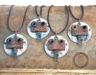 Wearable Art Jewelry - Old World Charm by Robin Davis Studio