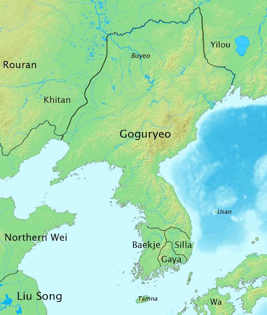 Wilayah 3 Kerajaan : Goguryeo, Silla dan Baekje