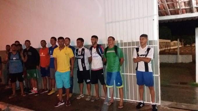 Currais Novos e.c. apresentou Comissão Técnica e parte do Elenco para o Seridosão em frente ao Estádio