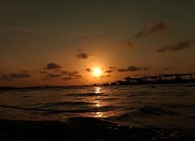 Sunset Romantis di Pantai Bali Lestari Medan, Pantai Balinya Medan