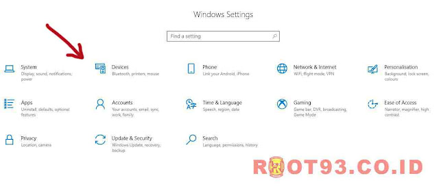 windows setings root93