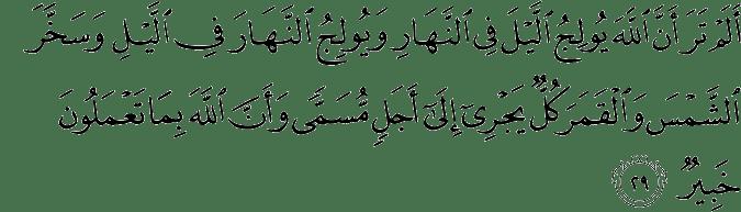 Surat Luqman Ayat 29