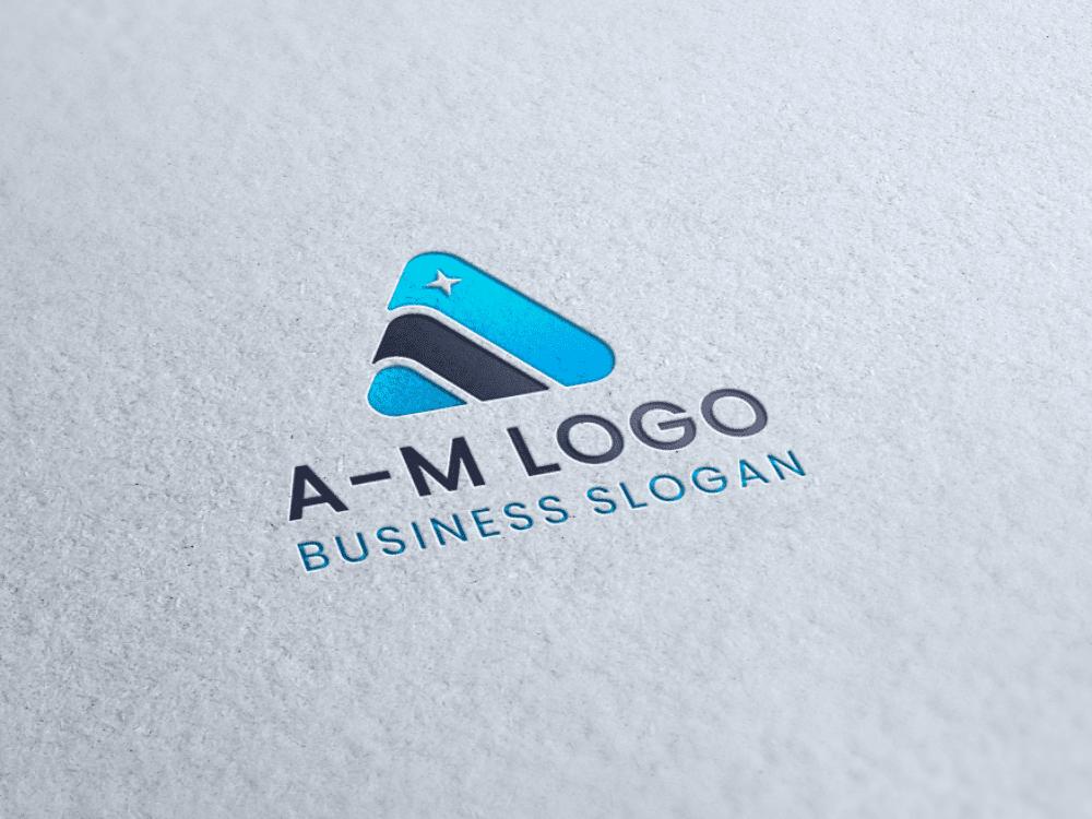 Free logo triangle paper letterpress presentation